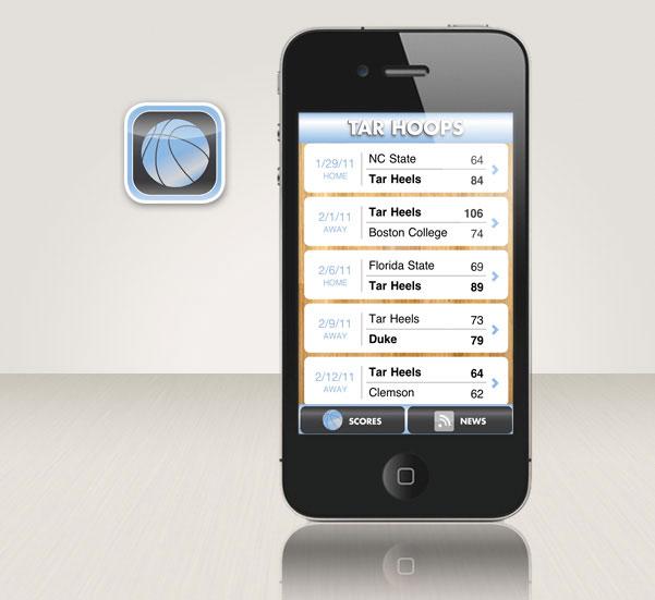 Tar Hoops iPhone app
