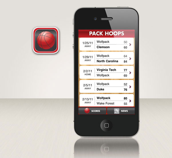 Pack Hoops iPhone app